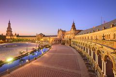 Spanish square of seville, spain Stock Photos