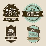 illustration of discount labels and special offers, seasonal discounts, vector - stock illustration