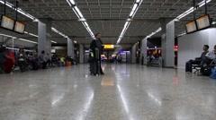 People Walking in GRU Airport in Sao Paulo Stock Footage