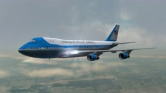 Airplane Boing Air Force One in fly - close up - 4k Stock Footage