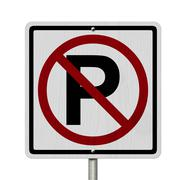 No parking allowed sign Stock Illustration