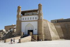 Fortress Ark, Bukhara, Uzbekistan Stock Photos