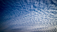 Altocumulus rolling clouds time lapse Stock Footage