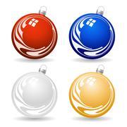 Stock Illustration of colorful christmas balls