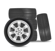 rubber tire icon isolated on white background - stock illustration