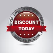 Stock Illustration of illustration of discount labels and special offers, seasonal discounts, vector