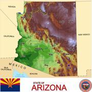 Arizona counties emblem motto - stock illustration