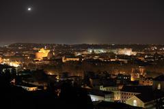Ufo night in rome Stock Photos