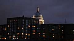 Stock Video Footage of St. Paul night fromThames