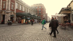 Aged cobbled square Stock Footage