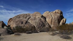 Large boulders in the desert - stock footage