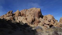 Large Boulders in a desert scene - stock footage