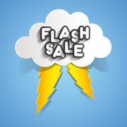 Flash Sale Stock Illustration