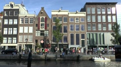 The Anne Frank House Museum, Prinsengracht, Amsterdam, Netherlands. Stock Footage
