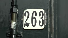 House number, Anne Frank House Museum, Prinsengracht, Amsterdam, Netherlands. Stock Footage