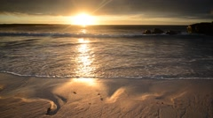 Sunset coast, Scotland Stock Footage
