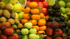 Fruit on the counter Stock Footage