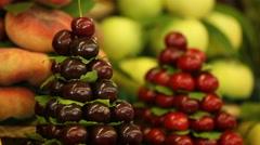 Cherry fruit Stock Footage