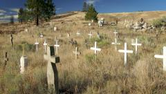 Cemetery Crosses Colville Indian Reservation, 4K - stock footage