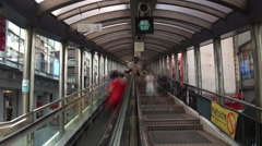 Timelapse Hong Kong Central-Mid Levels Escalator-longest outdoor escalator -Dan Stock Footage