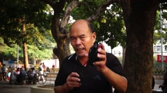 The old people in the singing, happy, in Shenzhen, China - stock footage