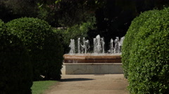 Barcelona garden fountain Royal Palace of Pedralbes 4K 039 Stock Footage
