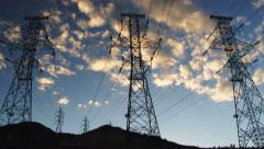 Silhouette of Power Lines, Time Lapse, 4K Stock Footage