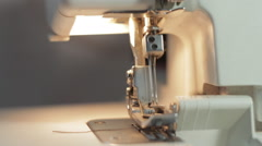 Sewing machine working needle Stock Footage