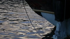 Tall ship - detail of the bow Stock Footage