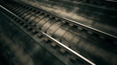 Seamless Railroad.Railway Track Transport Travel Iron - stock footage