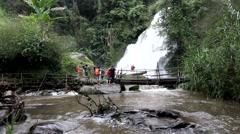 Pha Dokseaw waterfall Chiang Mai Thailand Stock Footage