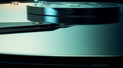 Close-up Of Hard Disk. HDD Data Storage Memory - stock footage
