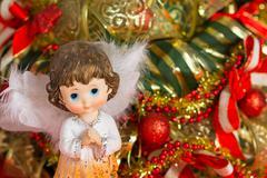 Angel christmas orizontal Stock Photos