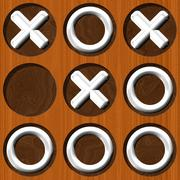 Tic tac toe wooden board generated seamless texture Stock Illustration