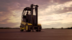 Forklift. Cargo Machine Storage Industry Loader Arkistovideo