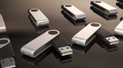 Usb Sticks. Data Memory File Drive Stock Footage