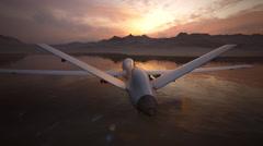 Military Predator Drone. Uav Surveillance Spy - stock footage