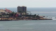 La Jolla California Cove Peninsula Stock Footage