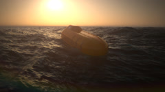 Lifeboat In Sea Stock Footage