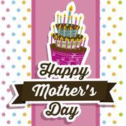 Illustration of the celebration of mother's day, vector illustration Stock Illustration