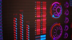 Graphical User Interface, Futuristic Screen GUI - stock footage