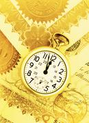 Pocket Watch and Certificates Stock Photos