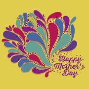 Stock Illustration of illustration of the celebration of mother's day, vector illustration