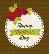 Stock Illustration of illustration of the celebration of mother's day, vector illustration