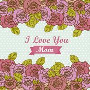 illustration of the celebration of mother's day, vector illustration - stock illustration