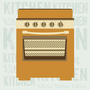 illustration of kitchen appliances. illustration of a stove. vector illustration - stock illustration