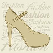 Stock Illustration of illustration of fashion icons, fashion shoes, vector illustration