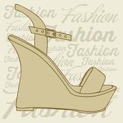 Stock Illustration of illustration of fashion icons, fashion shoes, vector illustration