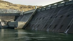 Grand Coulee Dam and Reservoir, 4K Stock Footage