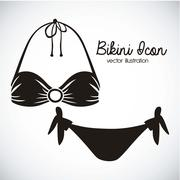 Stock Illustration of illustration of bikini icon. swimsuit two pieces. vector illustration